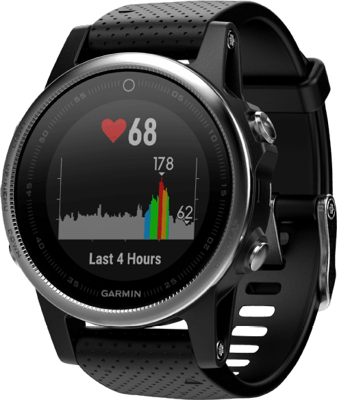 Black Garmin Fēnix® 5S, 220 mm.1