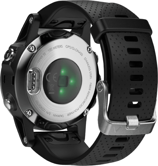 Black Garmin Fēnix® 5S, 220 mm.4