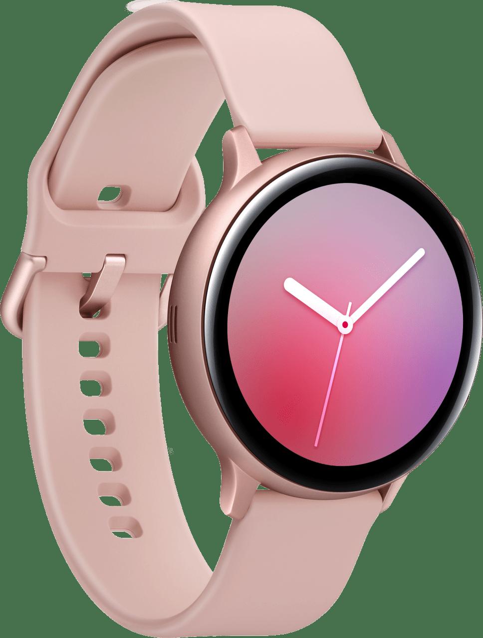 Pink Gold Samsung Galaxy Watch Active2, 44mm Aluminium case, Sport band.2