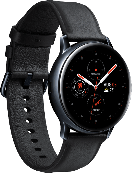 Black Samsung Galaxy Watch Active2, 40mm.3