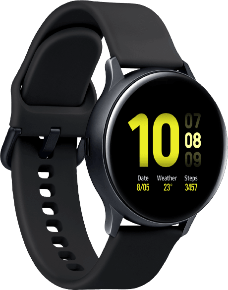 Aqua Black Samsung Galaxy Watch Active2, 40mm Aluminium case, Sport band.2