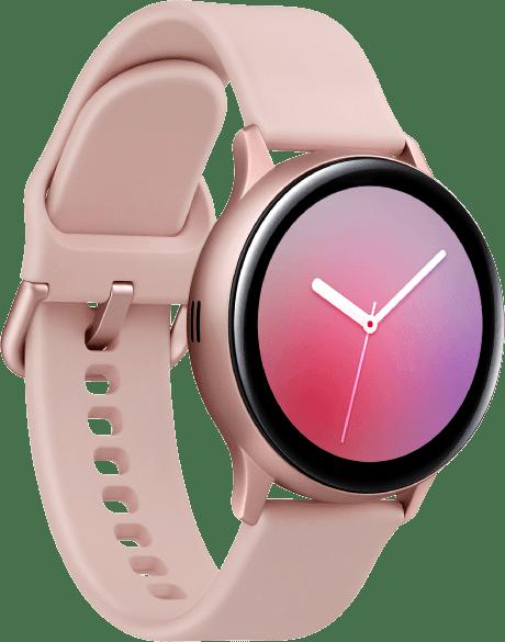Pink Gold Samsung Galaxy Watch Active2, 40 mm Aluminium-Gehäuse, Sportband.2
