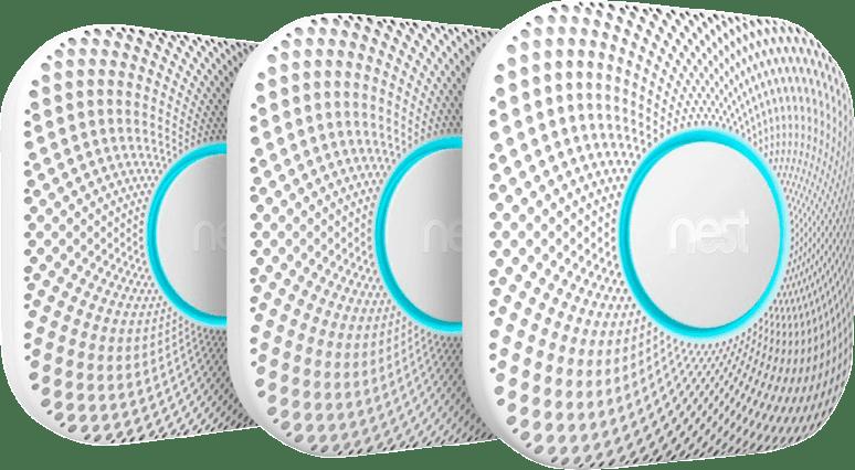 White Google Nest 2nd Gen. Protect Smoke & CO Detector.1