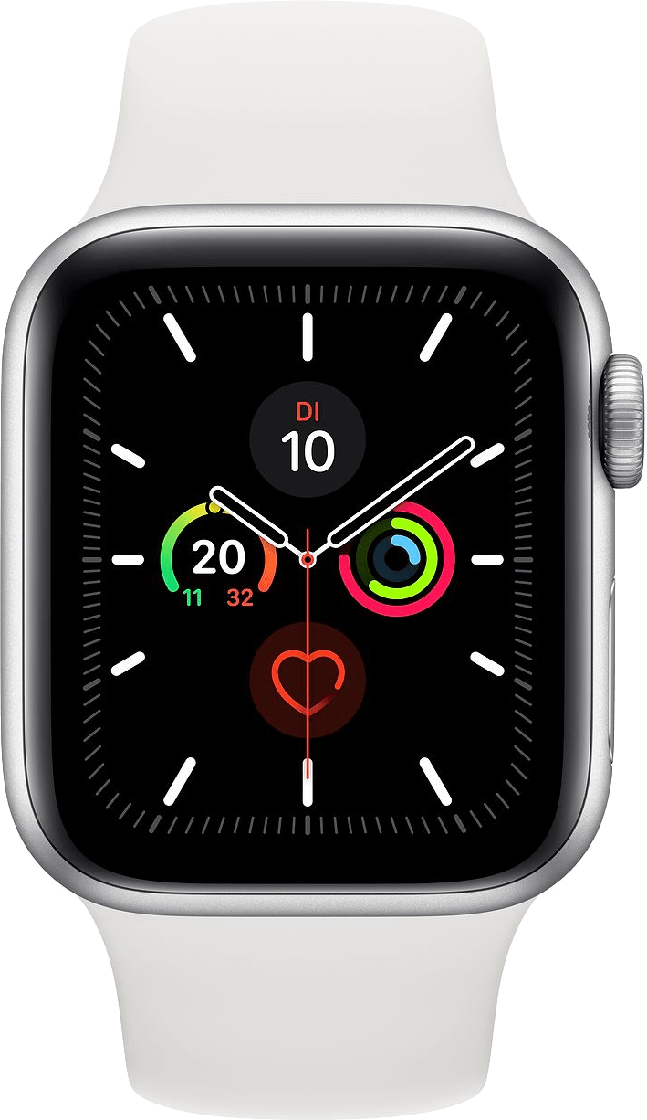 Weiß Apple Watch Series 5 GPS, 44mm.1