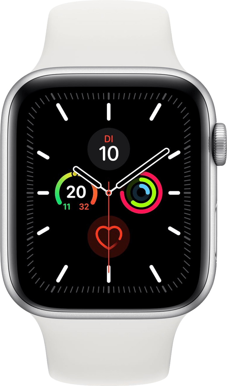 Weiß Apple Watch Series 5 GPS + Cellular, 40mm.1