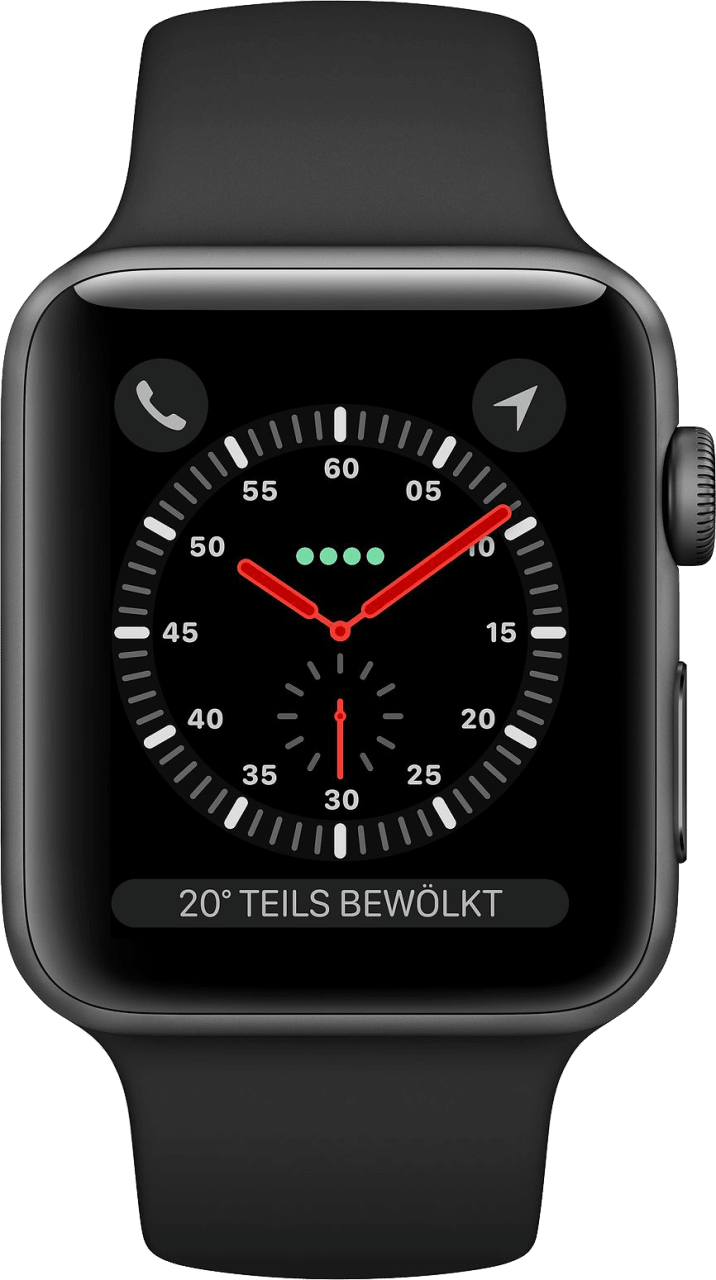 Schwarz Apple Watch Series 3 GPS + Cellular, 42mm.1