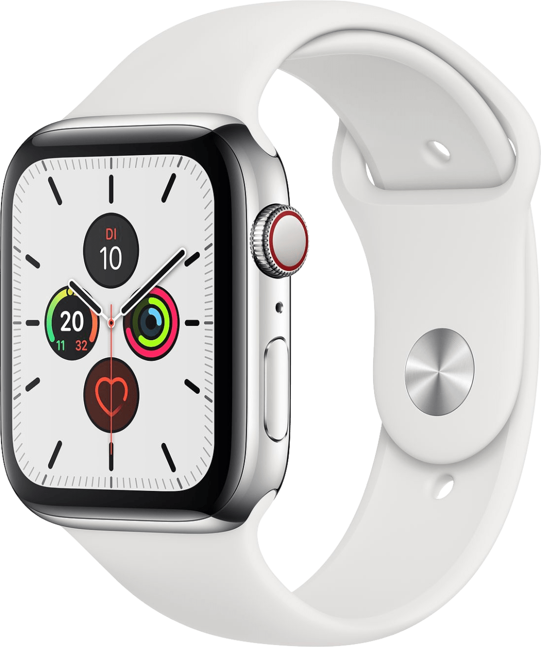 Weiß Apple Watch Series 5 GPS + Cellular, 40mm.2
