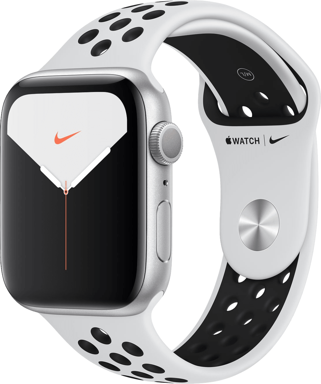 Pure Platinum / Black Apple Watch Nike Series 5 GPS + Cellular, 44mm.2