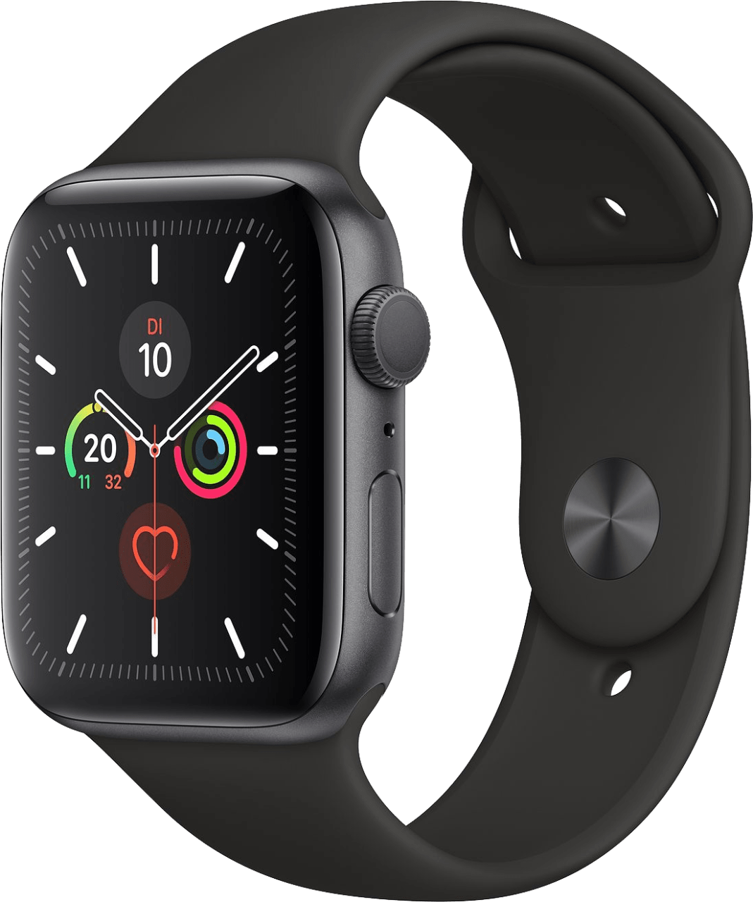 Black Apple Watch Series 5 GPS, 44mm Aluminium case, Sport band.2