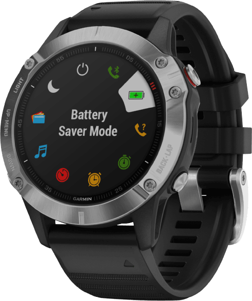 Black Garmin Fenix 6.3
