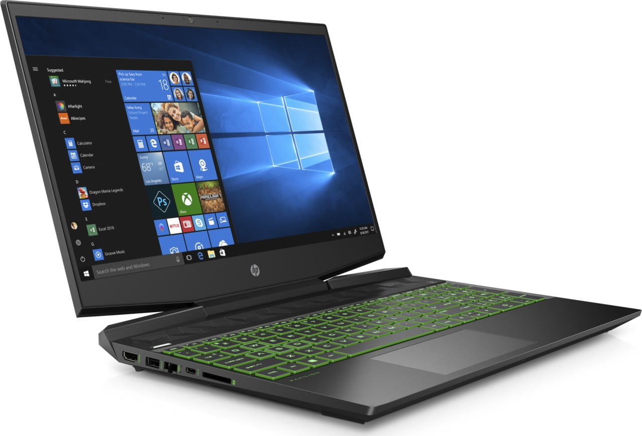 Shadow Black / Acid Green HP Pavilion Gaming 15-dk0010ng.4