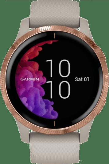 Beige Garmin Venu Smartwatch.1