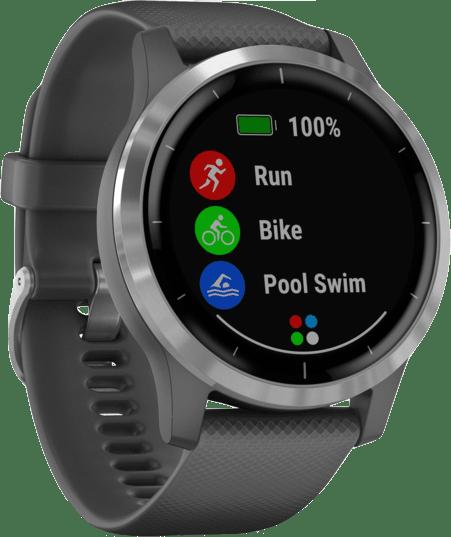 Dunkelgrau Garmin Vivoactive 4 GPS-Sportuhr.2