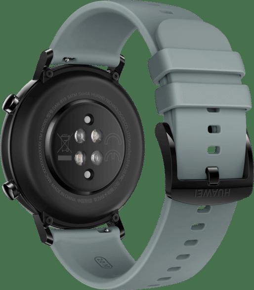 Blue Gray Huawei Watch GT2 Sport Edition, 42mm Stainless steel case, Fluororubber Strap.3