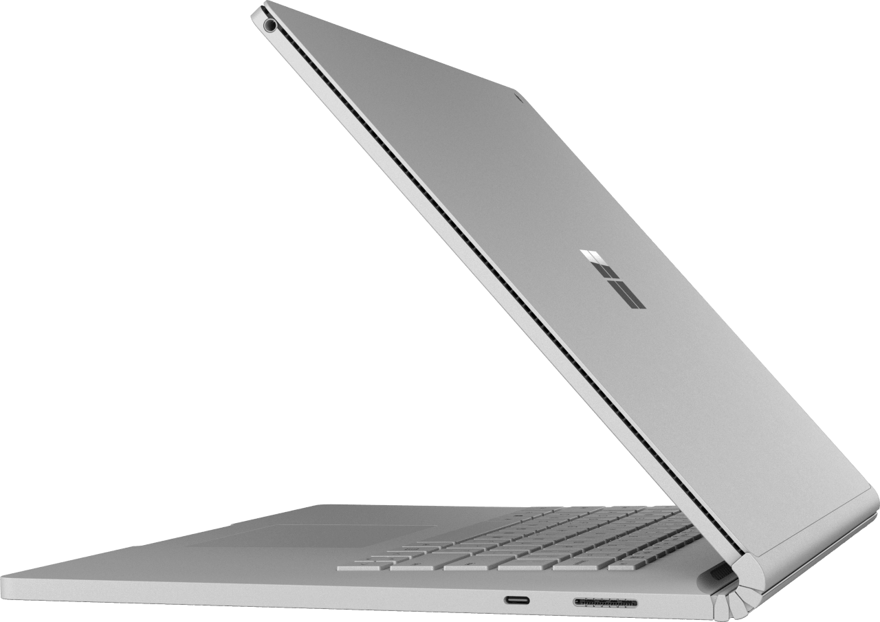 "Silver Microsoft Surface Book 2 15"".3"