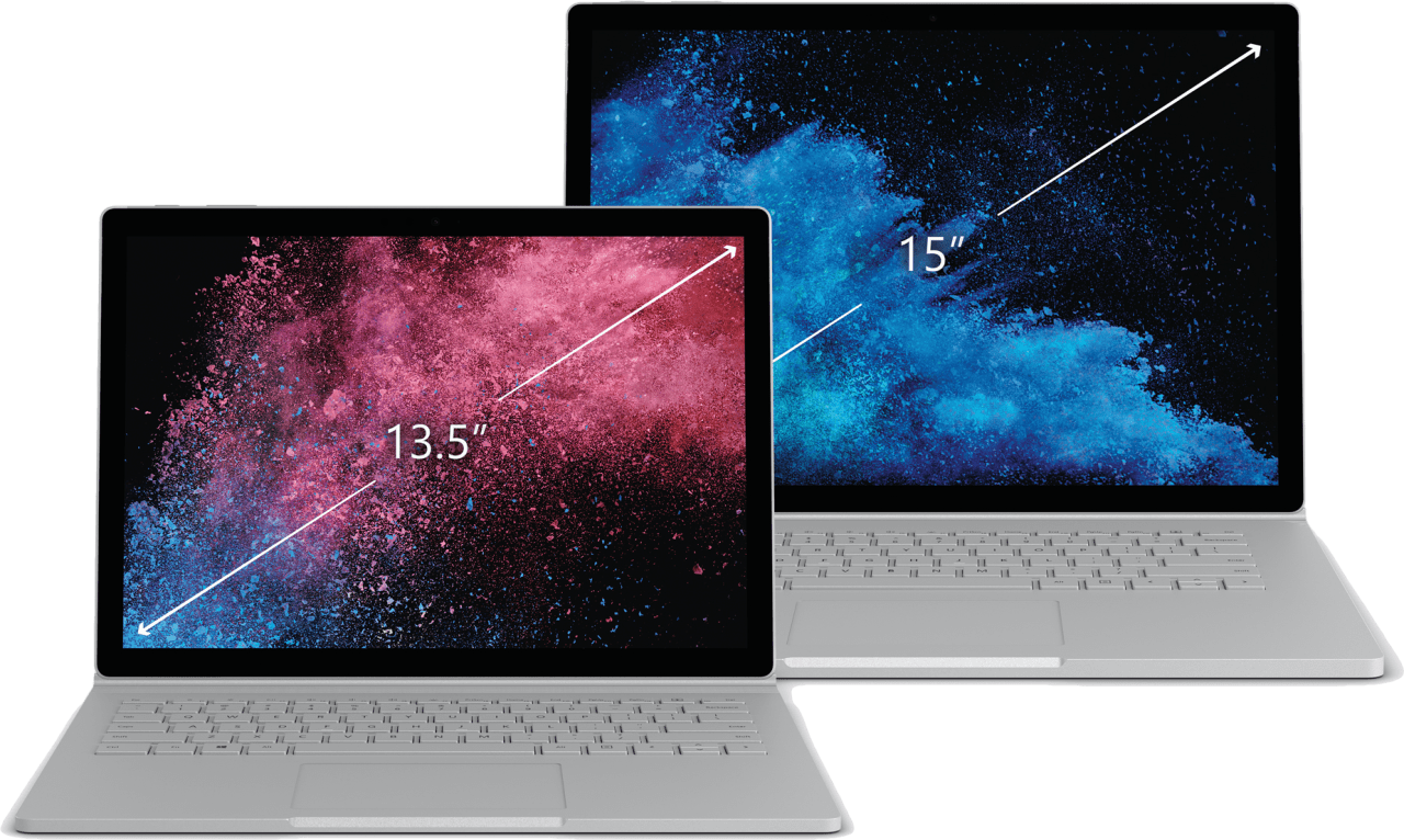 "Silber Microsoft Surface Book 2 13.5"".4"