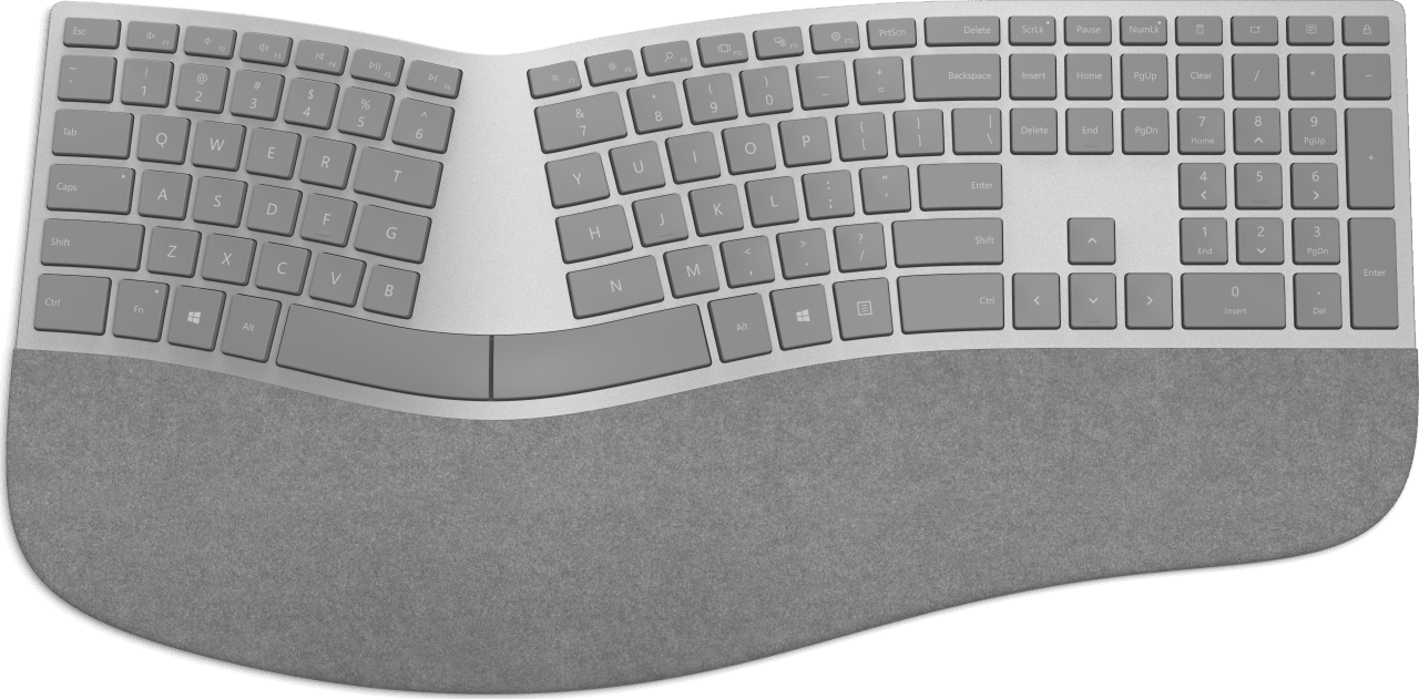 Grey Microsoft Surface Ergonomic Keyboard.1