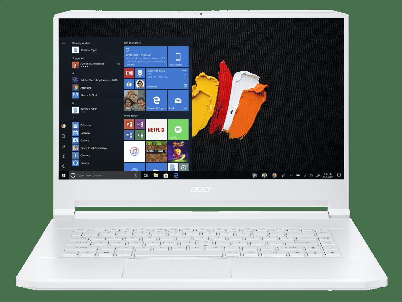 White Acer ConceptD 7 CN715-71-743N.1