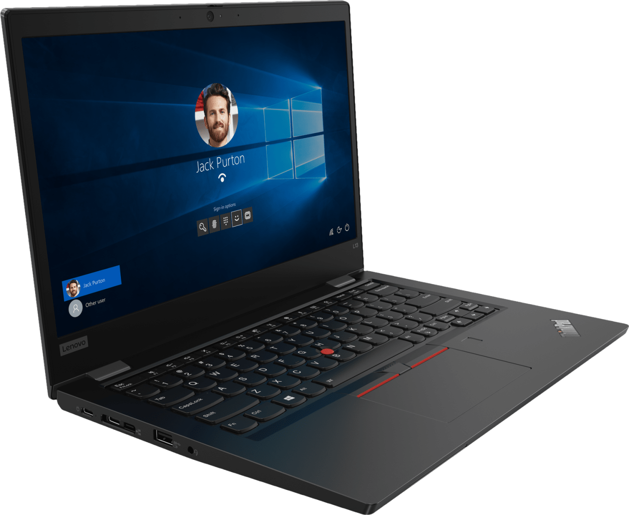 Black Lenovo ThinkPad L13.4
