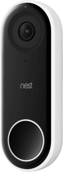 Black and White GOOGLE Hello video doorbell.1