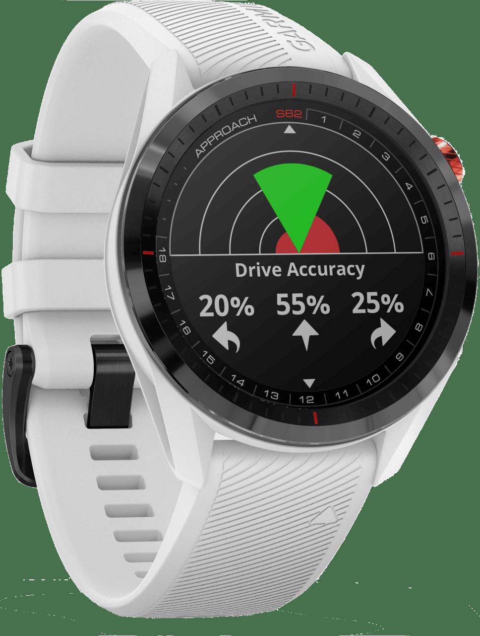 Weiß Garmin Approach® S62 GPS Premium Golf GPS-Uhr.3