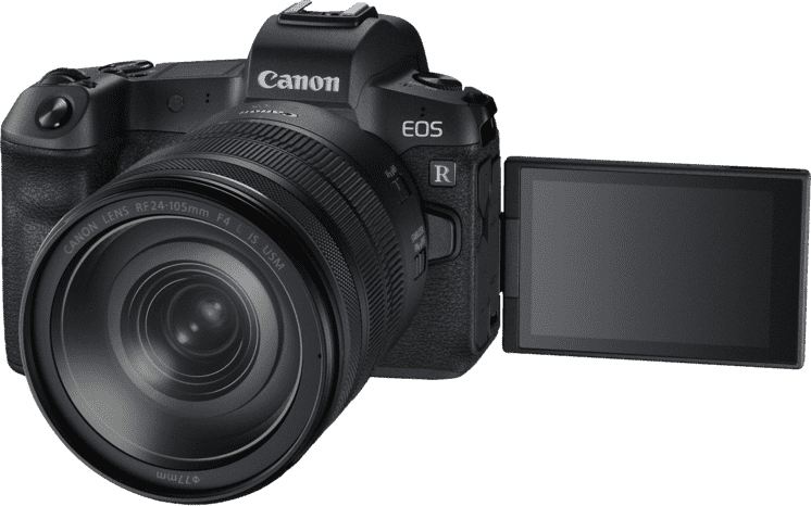 Schwarz CANON EOS R Kit with RF24-105MM F4.0 and EF-EOS R Adapter.1