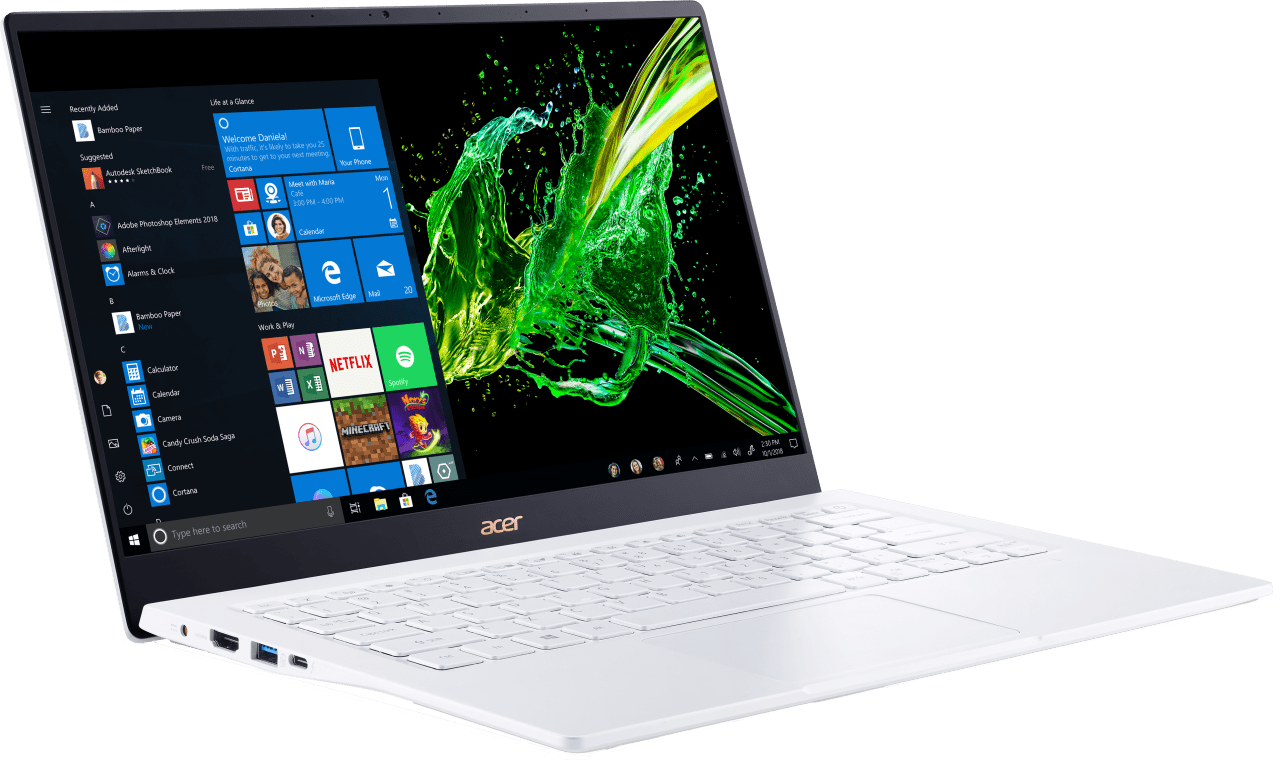 Weiß Acer Swift 5 SF514-54T-516A.3