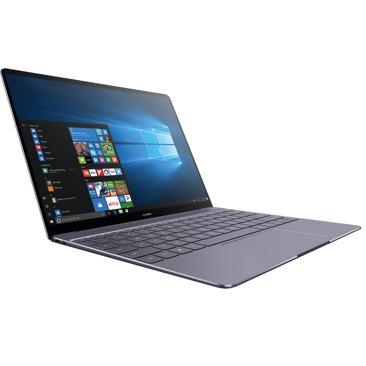 Metallic Grey Huawei MateBook X.2