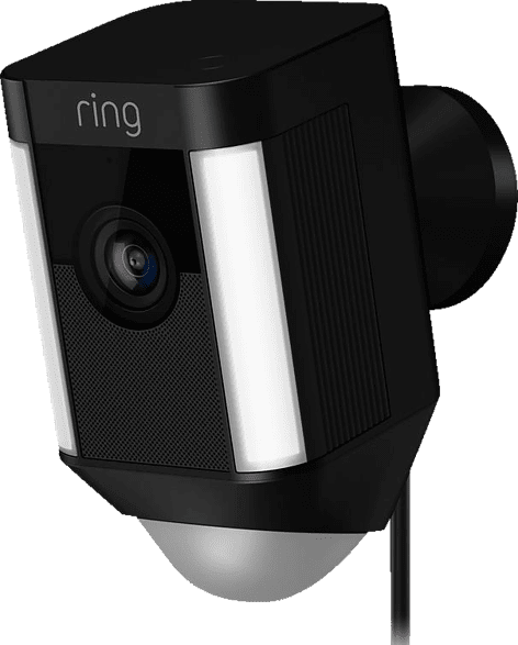 Black Ring Spotlight Cam with Light, Siren, Motion detector.1