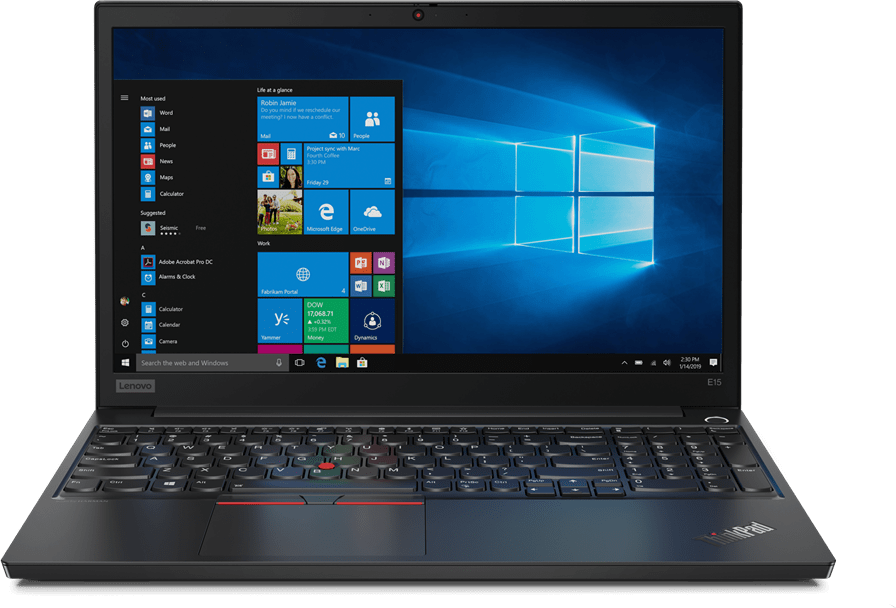Black Lenovo ThinkPad E15.1