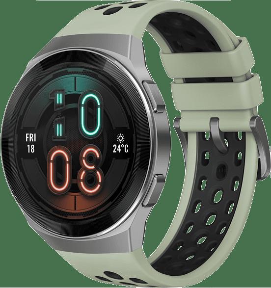 Mint green Huawei Watch GT 2e, 46mm Metal case,  Plastic fluoroelastomer band.1