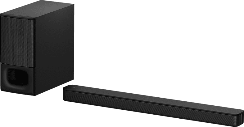 Black Sony HT-S350 Soundbar + Subwoofer.2