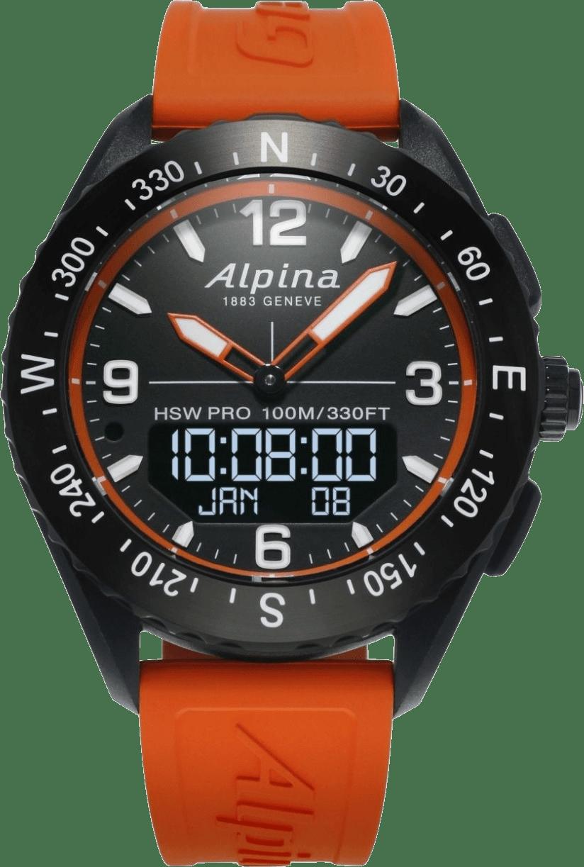 Orange / Schwarz-Orange Alpina AlpinerX Smartwatch.1