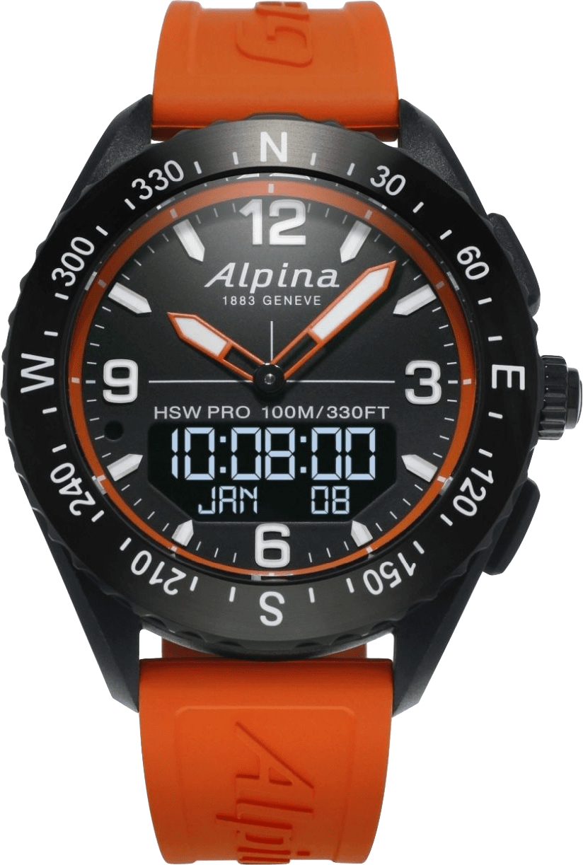 Orange / Schwarz-Orange Alpina AlpinerX, 45 mm.1
