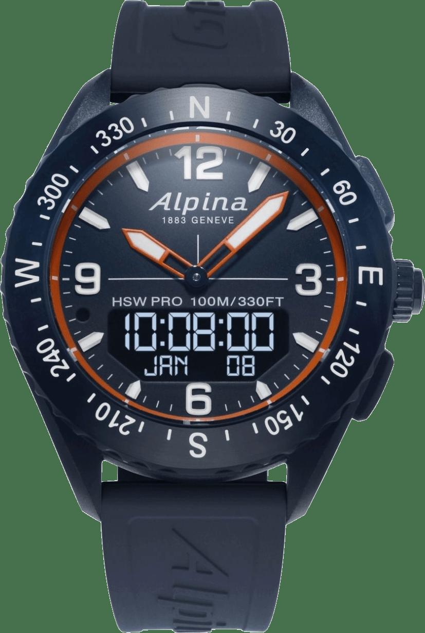 Donkerblauw / Donkerblauw-oranje Alpina AlpinerX Smartwatch.1