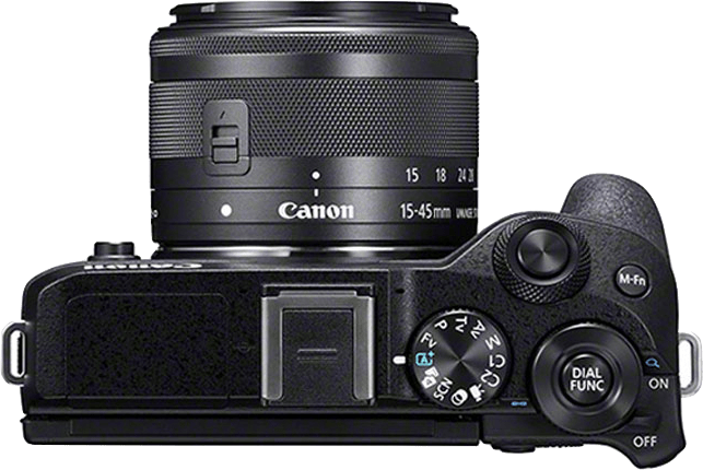 Black Canon EOS M6 Mark II + EF-M 15 - 45mm.3