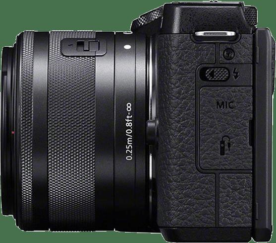 Black Canon EOS M6 Mark II + EF-M 15 - 45mm.2