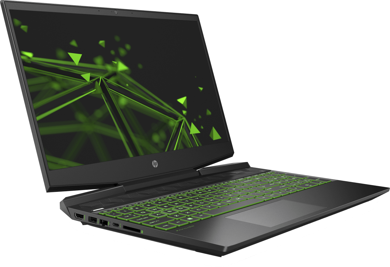 Shadow Black / Acid Green HP Pavilion Gaming 15-dk1247ng.4