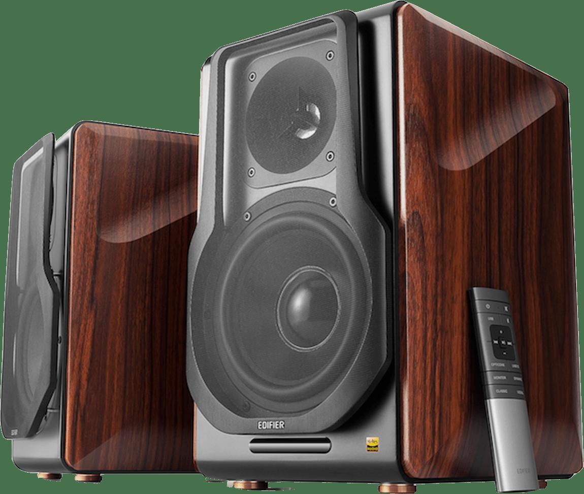 Brown / Black Edifier S3000Pro Bookshelf Speaker.1