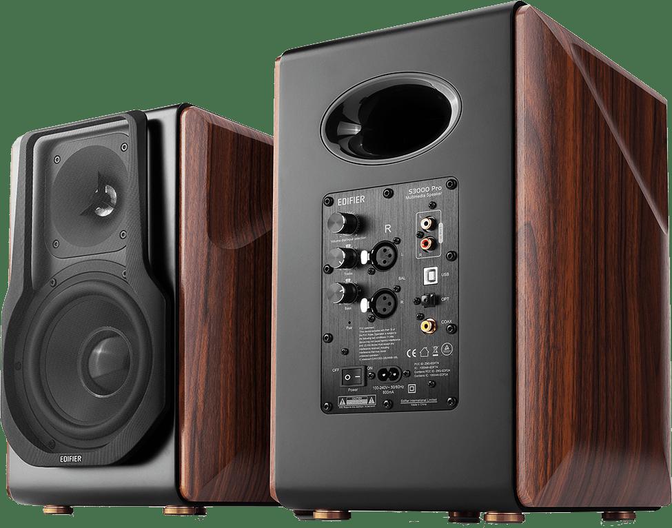 Brown / Black Edifier S3000Pro Bookshelf Speaker.4