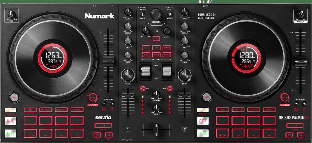 Black Numark Mixtrack Platinum FX DJ controller.2