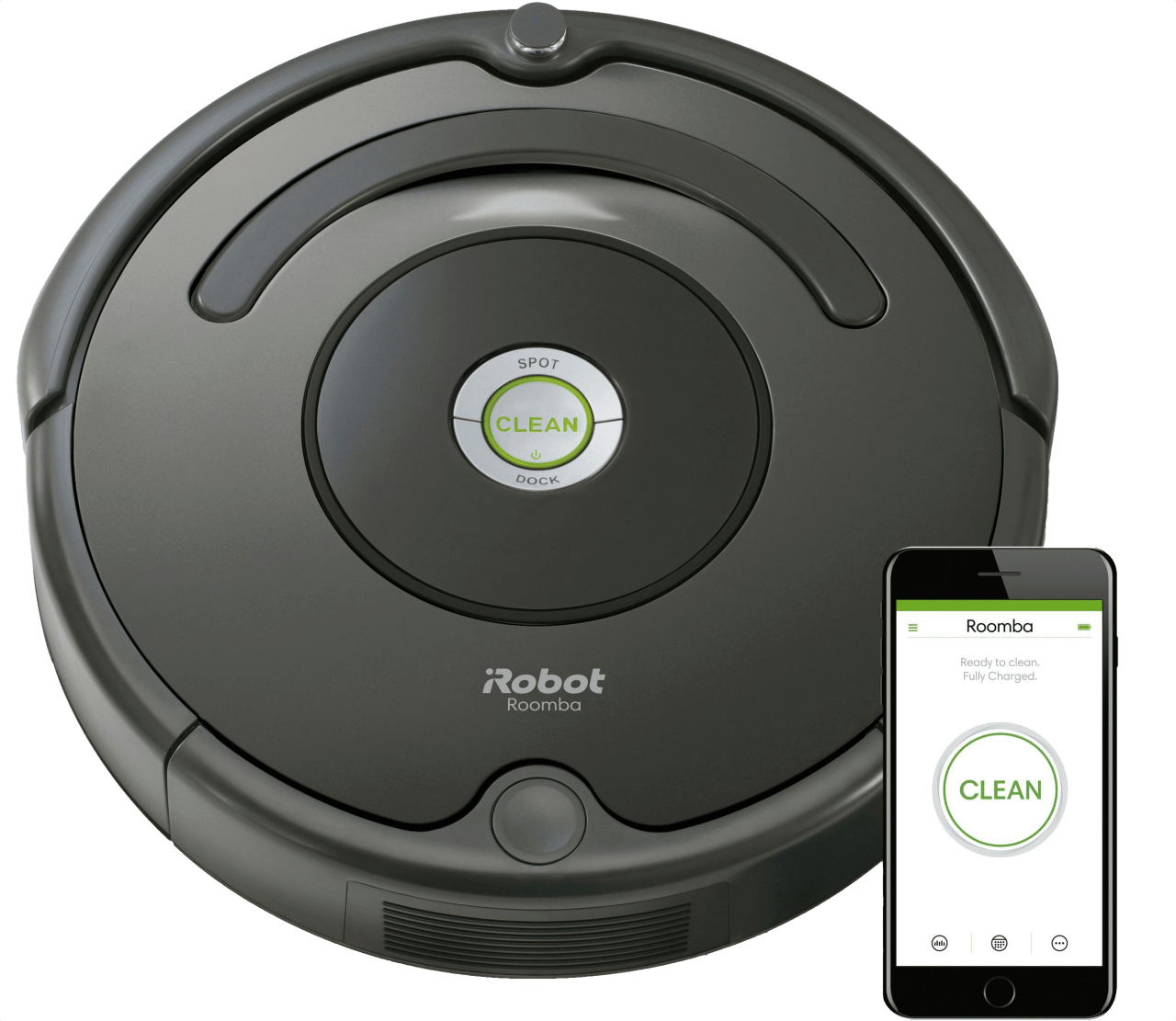 Black iRobot Roomba 676.1