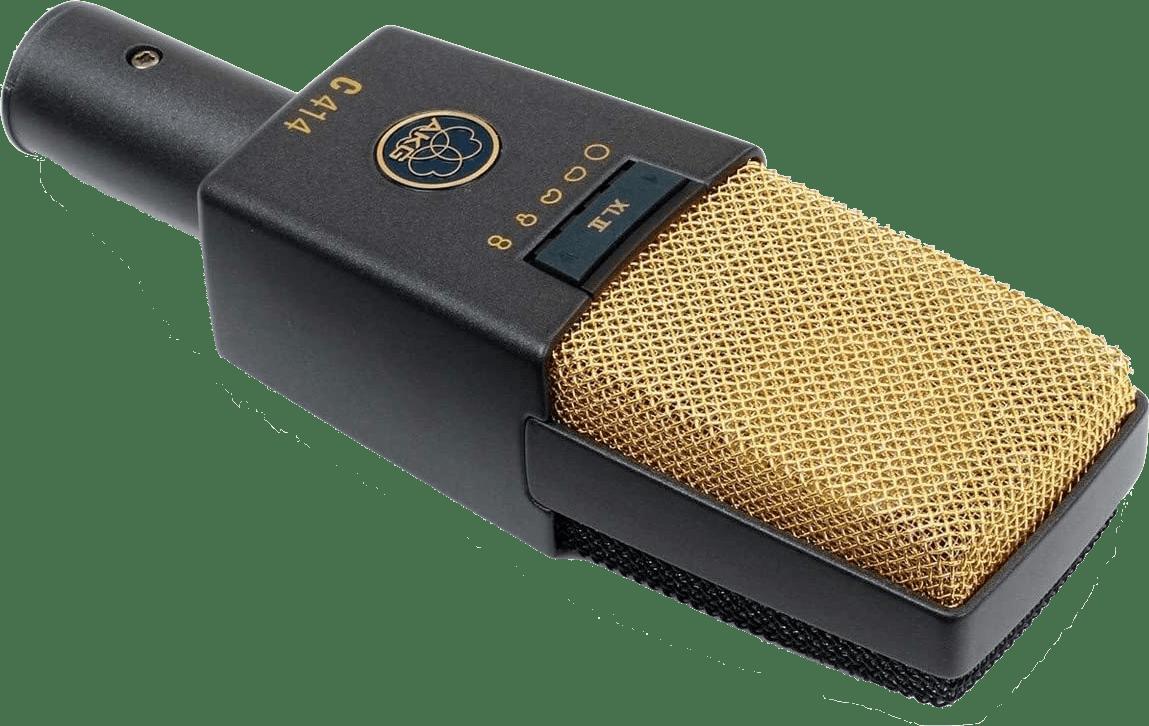 Dunkelgrau / Gold AKG C414 XLII Kondensatormikrofon.2