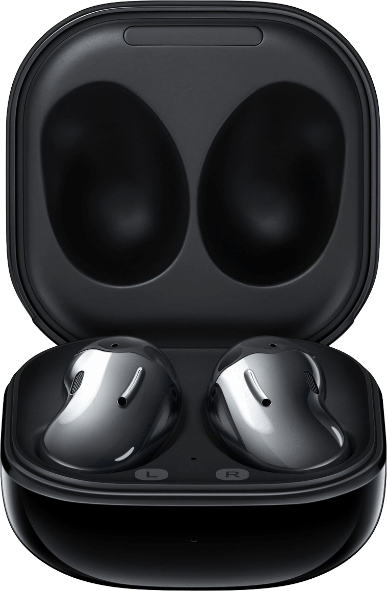 Mystic Black Samsung Galaxy Buds Live Noise-cancelling In-ear Bluetooth Headphones.4