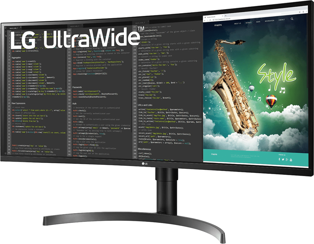 "Mate Black LG - 35"" 21:9 Curved UltraWide™ 35WN75C.2"