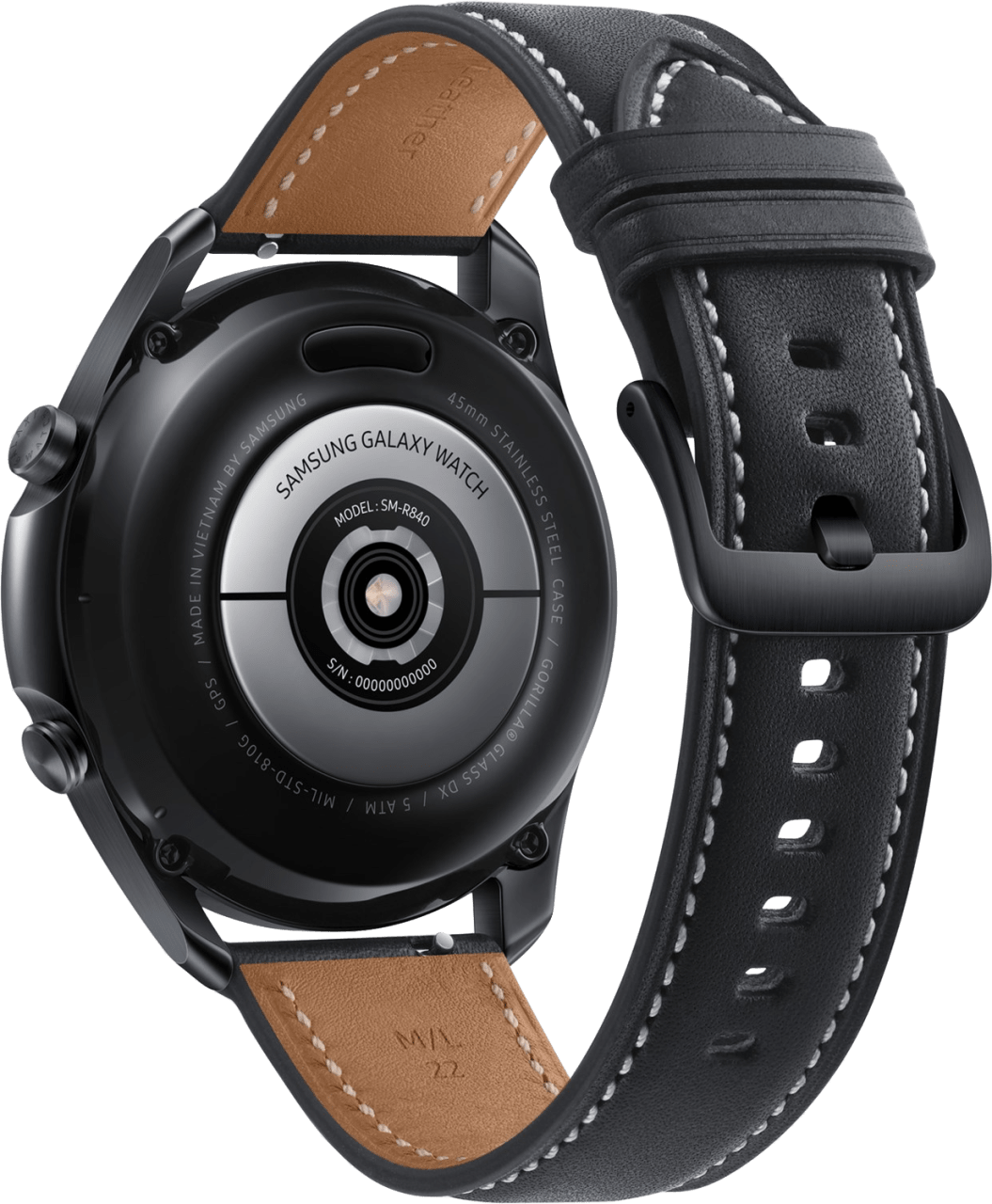 Mystic Black Samsung Galaxy Watch 3, 45mm.2