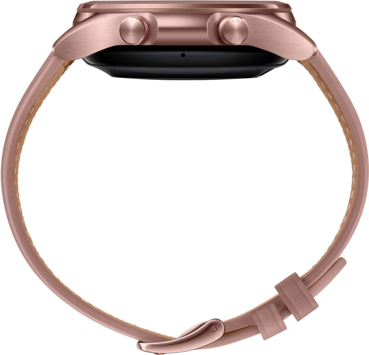 Mystic Bronze Samsung Galaxy Watch 3 (LTE), 41mm Stainless steel case, Real leather band.4