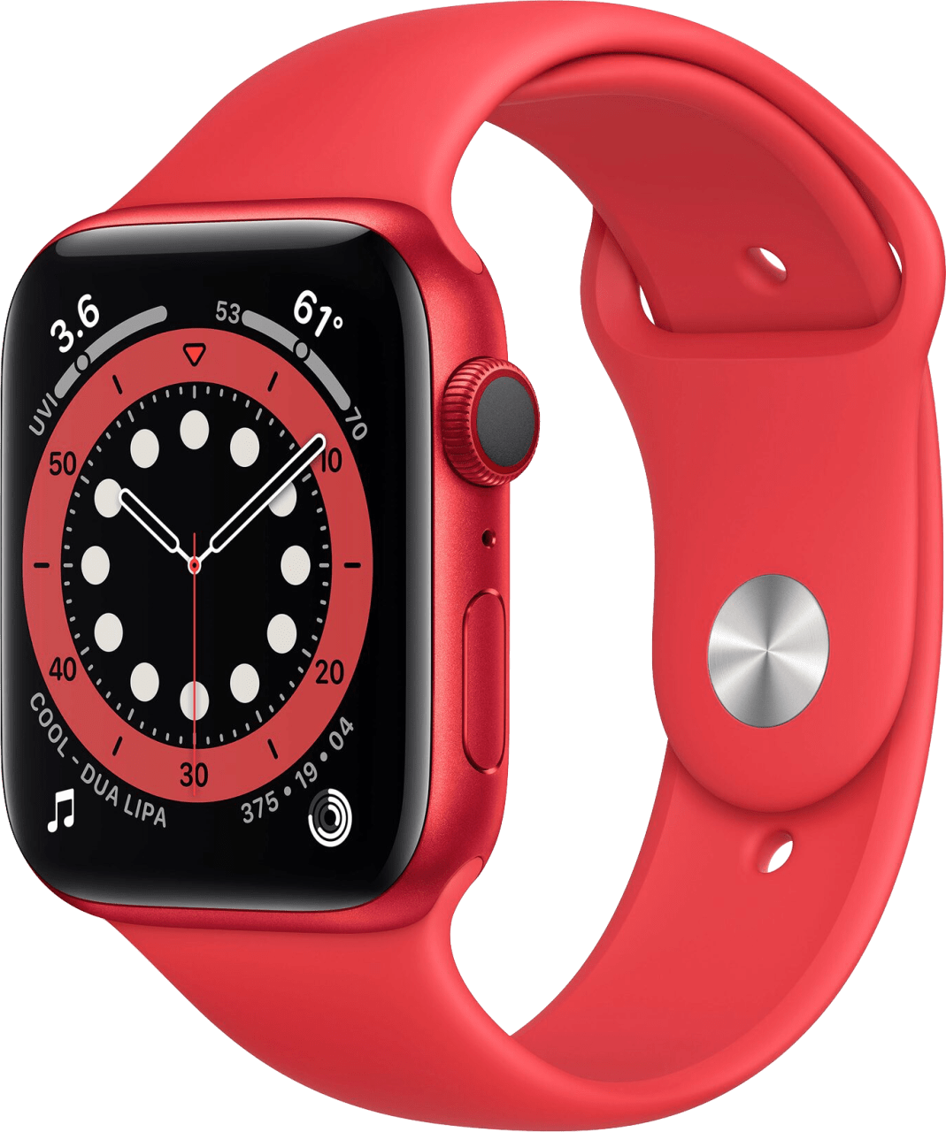 Red Apple Watch Series 6 GPS + Cellular , 40mm Aluminium case, Sport band.1