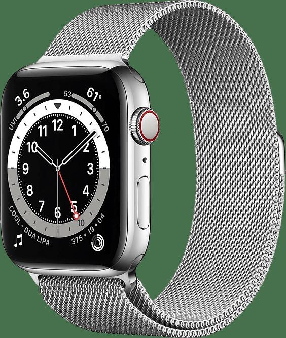Silber Apple Watch Series 6 GPS + Cellular , 40mm.1