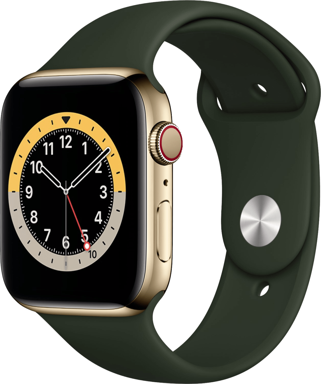 Cyprus green Apple Watch Series 6 GPS + Cellular , 40mm Stainless steel case, Sport band.1